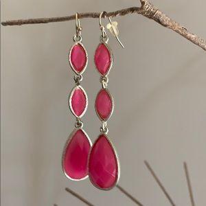 Pink Layered Drop Earrings